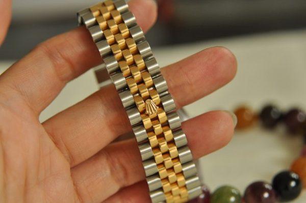 Đồng hồ Rolex 116233 demi vàng 18k mặt vi tính trắng kim cương to