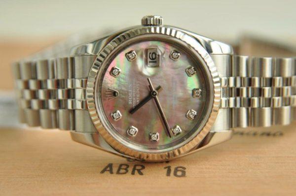 Đồng hồ Rolex 116234 Datejust Oyster Perpetual mặt khảm cọc kim cương