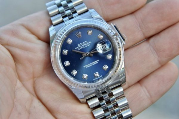 Đồng hồ Rolex 116234 Datejust Oyster Perpetual mặt xanh trơn