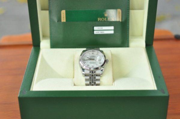 Đồng hồ Rolex 116234 Datejust Oyster Perpetual mặt khảm trai