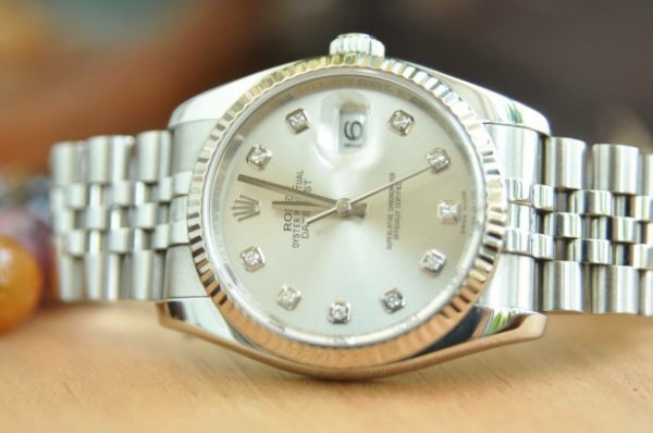 Đồng hồ Rolex 116234 Datejust Oyster Perpetual mặt trắng trơn