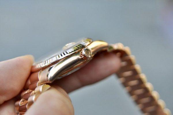 Đồng hồ Rolex 118235 Day Date President vàng hồng cọc số kim cương