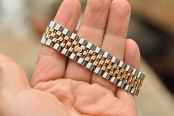 Đồng hồ Rolex Datejust 116231 mặt vi tính vàng hồng 18k vành kim cương