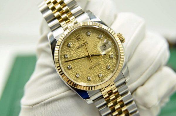 Đồng hồ Rolex Datejust 116233 mặt vi tính demi vàng 18k