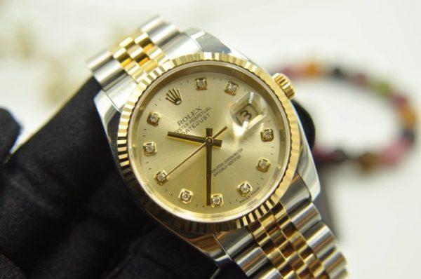 Đồng hồ Rolex Datejust 116233 demi mặt vàng 18k seri D