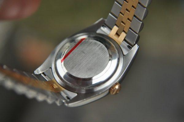 Đồng hồ Rolex Datejust 116233 mặt trắng sứ demi vàng 18k
