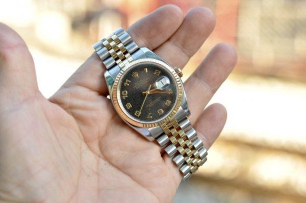 Đồng hồ Rolex Datejust 116233 mặt vi tính demi vàng đúc 18k