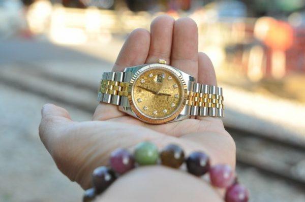 Đồng hồ Rolex Datejust 116233 demi mặt vi tính cọc kim cương to