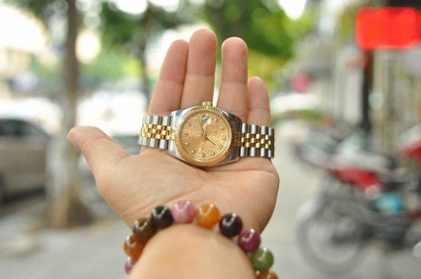 Đồng hồ Rolex Datejust 116233 demi vàng đúc 18k cọc kim cương