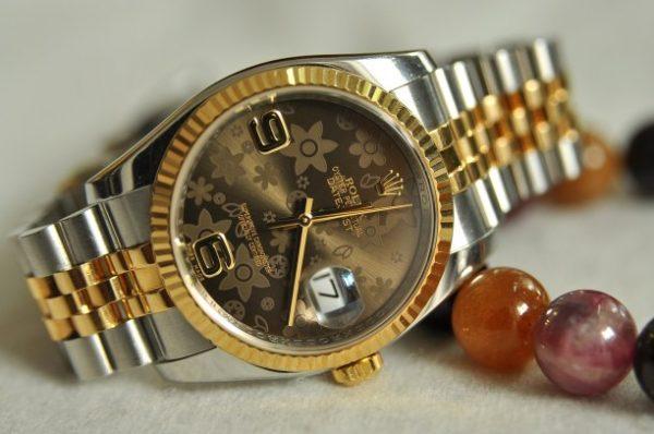 Đồng hồ Rolex Datejust 116233 demi 18k mặt socola chính hãng Thụy Sĩ