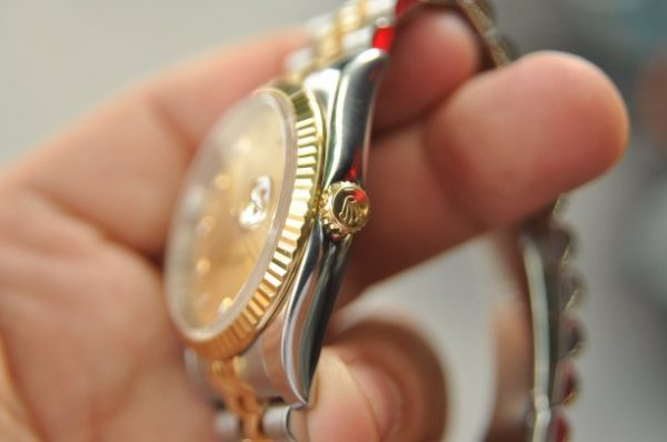 Đồng hồ Rolex Datejust 116233 vàng đúc 18k demi cọc số kim cương
