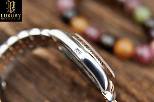 Đồng hồ Rolex Datejust 116231 mặt vi tính hồng demi vàng hồng đúc 18k