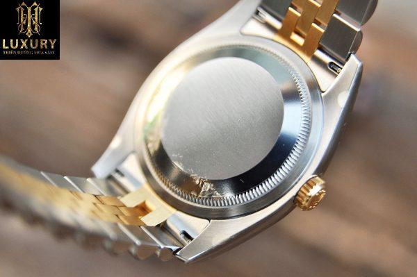 Đồng hồ Rolex Datejust 116233 mặt vi tính trắng cọc số kim cương Demi vàng 18k