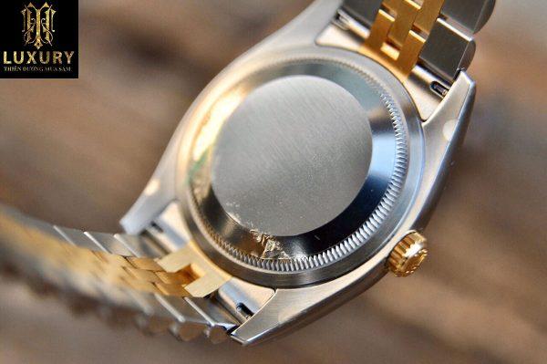 Đồng hồ Rolex Datejust 179173 nữ cọc số kim cương demi vàng 18k