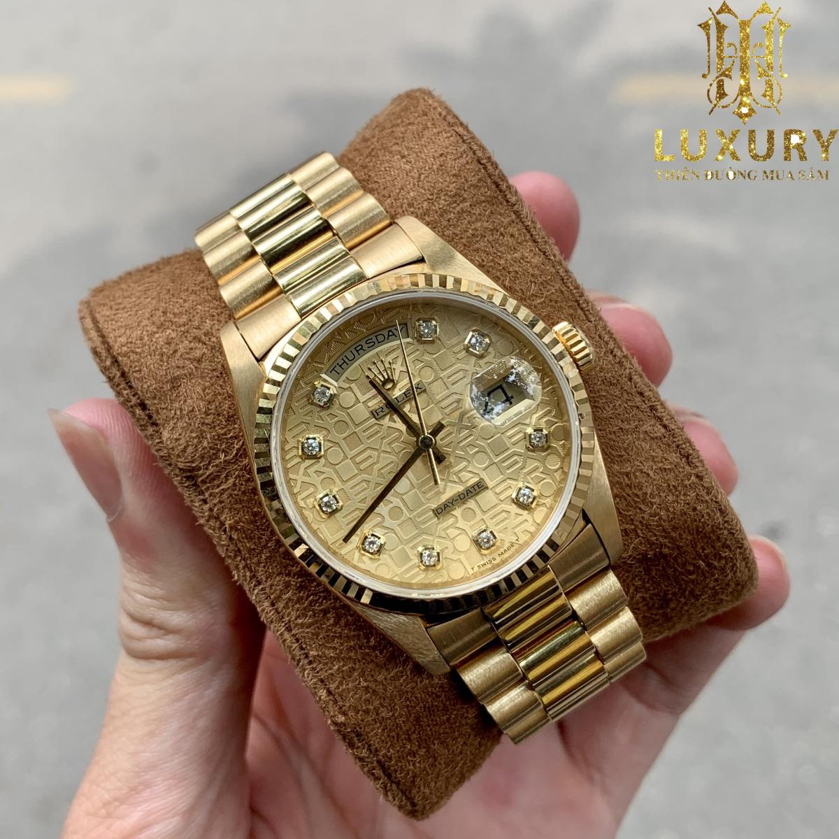 10 chiếc đồng hồ Rolex cũ đáng lựa chọn nhất 2021 Dong-ho-rolex-18238-day-date-president-mat-vi-tinh-vang-coc-so-kim-cuong-1