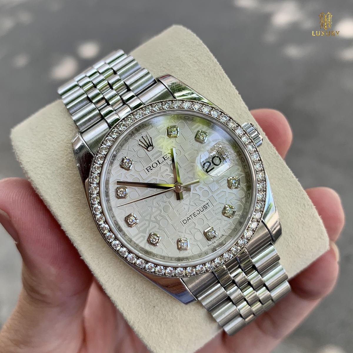 10 chiếc đồng hồ Rolex cũ đáng lựa chọn nhất 2021 Dong-ho-rolex-datejust-116244-stainless-steel-kim-cuong-zin-full-box-1
